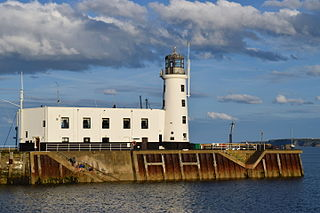 Scarborough Pier Lighthouse Lighthouse in Scarborough, North Yorkshire, England