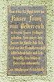 Schärding ex Goldenes Kreuz Inschrift Kaiser Franz.jpg