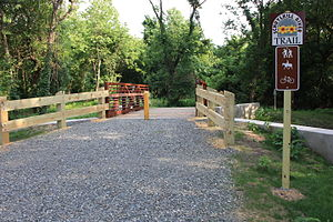 Schuylkill River Trail - The trail in Montgomery County