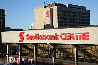 Sport in Halifax, Nova Scotia - The Scotiabank Centre, the largest indoor arena in Atlantic Canada, is home to the Halifax Mooseheads (hockey) and Halifax Hurricanes (basketball).