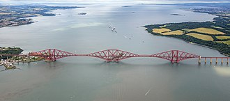 Forth Bridge - Image: Scotland 2016 Aerial Edinburgh Forth Bridge