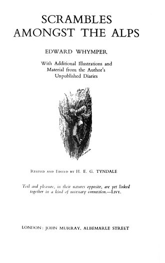 Edward Whymper - Title page of 6th edition (1936) of Scrambles amongst the Alps