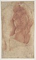 Seated Goddess Diana (recto); Studies of a Nude Male Torso Seen from the Rear, and a leg (verso) MET DP810968.jpg