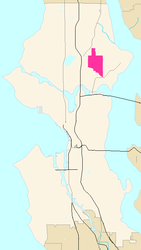 Map of Ravenna's location in Seattle