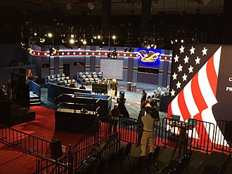 2016 United States presidential debates - The set of the second debate
