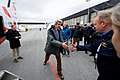 Secretary Kerry Shakes Hands With a Pilot at the Svalbarb Airport in Norway (27605958172).jpg