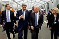 Secretary Kerry Walks and Talks With California Gov. Brown at the COP21 Climate Change Summit in Paris (22983356953).jpg