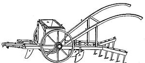Henry Blair (inventor) - The drawing of the Seed-Planter by Blair used on the patent application in 1836.