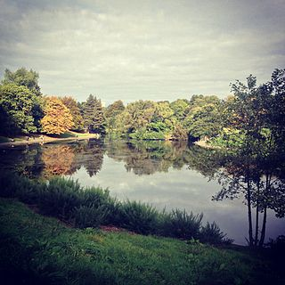 Sefton Park public park in south Liverpool, England