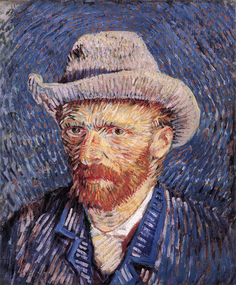 van gogh : Vie œuvre lettres à Théo  800px-Self-portrait_with_Felt_Hat_by_Vincent_van_Gogh