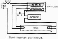 fluorescent lamp a semi resonant start circuit diagram
