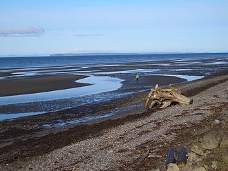 Semiahmoo Bay - Semiahmoo Bay, just south of White Rock. Point Roberts can be seen on the horizon