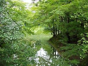 Sento Imperial Palace, Kyoto, Japan - pond vie...