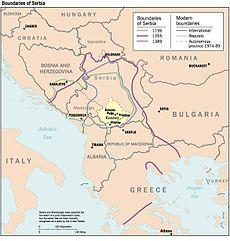 """Map: """"Kosovo: History of a Balkan Hot Spot"""", 1998"""