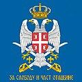 Serbian Air Force brigade flag (reverse).jpg