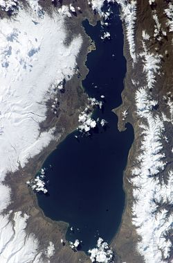 Mapa do Lago Sevan