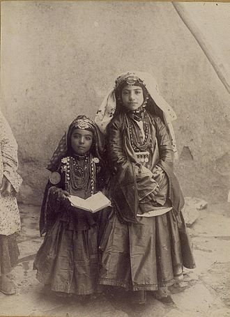 Shahsevan - Shahsevan girls from a rich family. End of 19th century, Iran