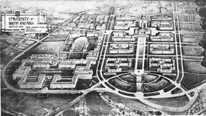 University of British Columbia - Original 1914 plan of the UBC campus, by architects Sharp and Thompson
