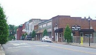 Blacksburg, South Carolina - Shelby Street in Uptown Blacksburg