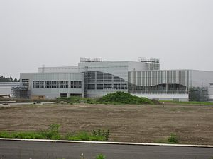Shichinohe-Towada Station - The station under construction in June 2009