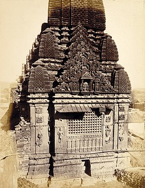 Shiva temple, Kera - Rear view of the temple as seen in 1874 photograph taken by archaeologist James Burgess.
