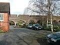 Shrewsbury United Reformed Church car park with railway bridge - geograph.org.uk - 1478615.jpg