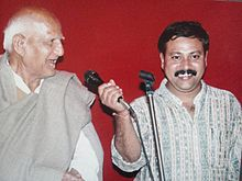 Shri Dharampal Agrawal Jee with his Best Student Shri Rajiv Dixit Jee.jpg