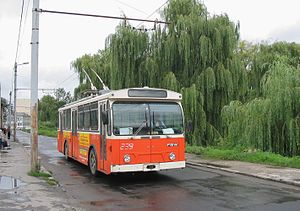 Trolleybuses in Lausanne - Image: Sibiu ex Lausanne FBW trolleybus 239
