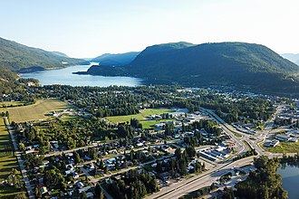 Sicamous - Image: Sicamous aerial view 2018