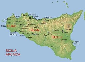 Sicani - Image: Sicilia arcaica