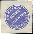 Siegelmarke Gemeinde Kusey im Kreise Gardelegen W0382816.jpg