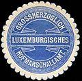 Siegelmarke Grossherzoglich Luxemburgisches Hofmarschallamt W0234933.jpg