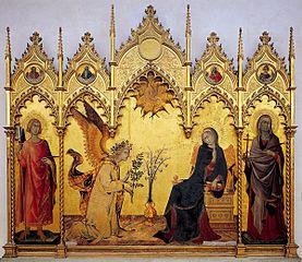 L'Annonciation avec sainte Marguerite et saint Ansanus