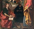 Simone cantarini, madonna in gloria tra santi, 1632-34 ca., 04.jpg