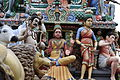 Singapore. Sri Mariamman. Gopuram. South West-25.JPG