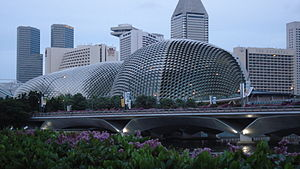 Esplanade – Theatres on the Bay - Image: Singapore Merlion Park Esplanade Marina Square