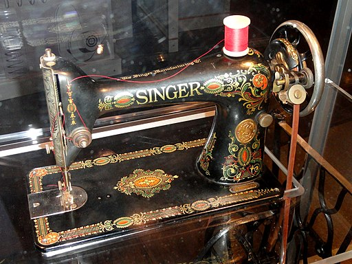 Singer Sewing Machine, date unknown - Franklin Institue - DSC06676