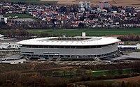 Sinsheim - Rhein-Neckar-Arena - blick von der Burg Steinsberg 2016-03-28 17-05-02.JPG