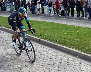 2015 Paris–Roubaix - Bradley Wiggins riding the 2015 Paris-Roubaix