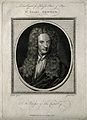 Sir Isaac Newton. Line engraving by J. Goldar after Sir G. K Wellcome V0004252.jpg