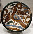 Siviglia, piatto a cuerda seca con uccello, 1490-1510 ca..JPG