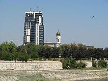 Photographie du siège de Makedonska Radio Televizija