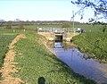 Sluice on Kirtling Brook, Great Bradley - geograph.org.uk - 47866.jpg