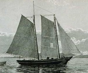 Two-masted fishing schooner from the GIMP publ...