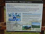 Soldier Hollow - Olympic Legacy sign at Soldier Hollow station, Apr 16.jpg