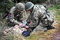 Soldiers Giving a Casualty First Aid MOD 45153630.jpg