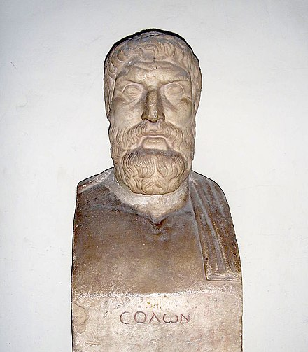 The lawgiver Solon reformed the Athenian constitution at the beginning of the sixth century BC