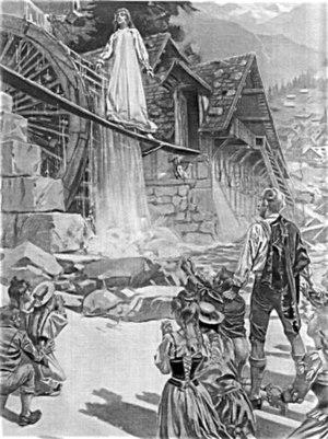 La sonnambula - The sleepwalker in act 2, sc. 2, (William de Leftwich Dodge, 1899)