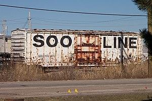 Soo Line Railroad - Soo Line boxcar, seen in 2010.