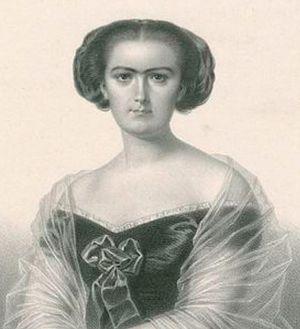 Sophie Cruvelli - Soprano Sophie Cruvelli, 1854 (Litho by Charles Vogt)